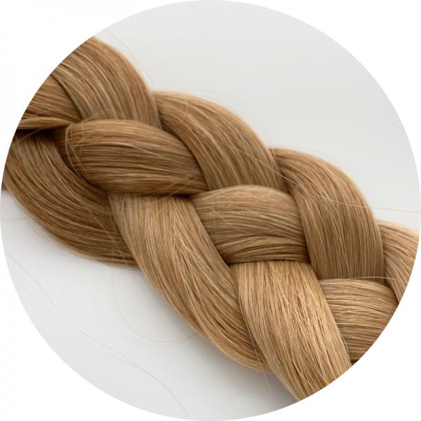 Asiatische Schnitthaar Extensions - glatte Struktur - 55/60cm - Farbe 5b/18 Dark Rooted