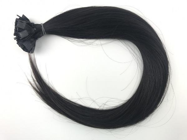 Sibirisches Rohhaar - schwarzbraun - glatt