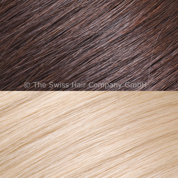 Asiatische Schnitthaar Extensions - glatte Struktur - 55/60cm - Farbe 2/1001 Dark Rooted