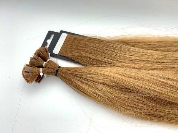 Asiatische Schnitthaar Tape Extensions - glatte Struktur - 55/60cm - Farbe 6/12 Dark Rooted