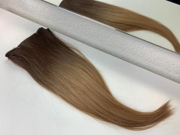Sibirische Schnitthaar Tresse - glatt - 50cm - Ombre 4/18