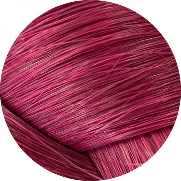 Asiatische Schnitthaar Extensions - glatte Struktur - 55/60cm - Farbe Burgundy