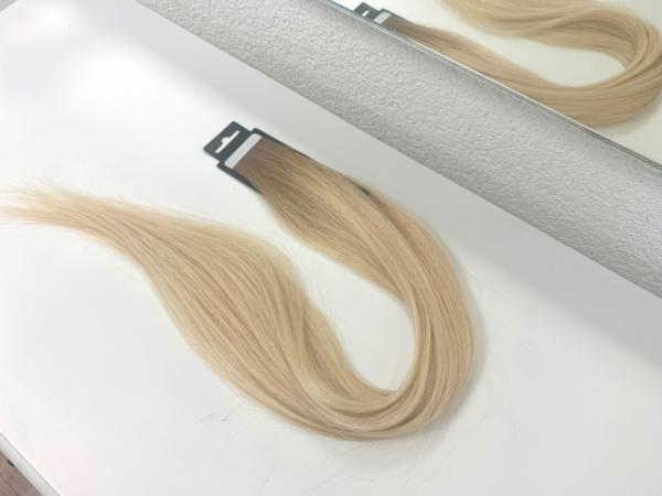 Asiatische Schnitthaar Tape Extensions - glatte Struktur - 55/60cm - Farbe 937/2870 Dark Rooted