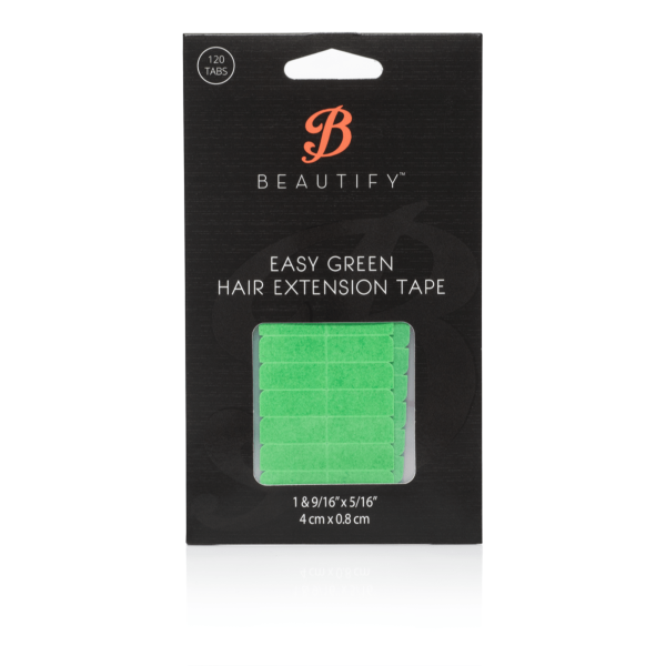 Hair Extensions Tape - Easy Green Tabs - 8mm
