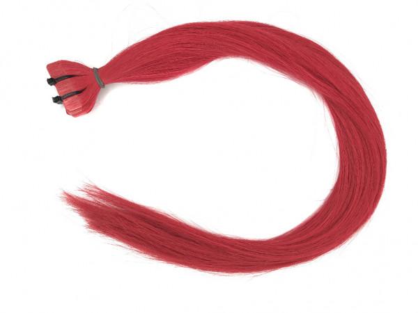 Asiatische Schnitthaar Tape Extensions - glatt - knalliges Rot