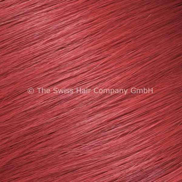 Asiatische Schnitthaar Extensions - glatte Struktur - 55/60cm - Farbe Red