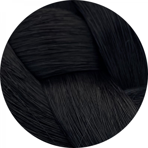 Asiatische Schnitthaar Tape Extensions - glatte Struktur - 70/75cm - Farbe 1