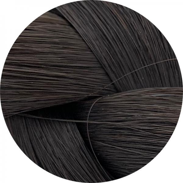Asiatische Schnitthaar Tresse - glatte Struktur - 55cm - Farbe 1b