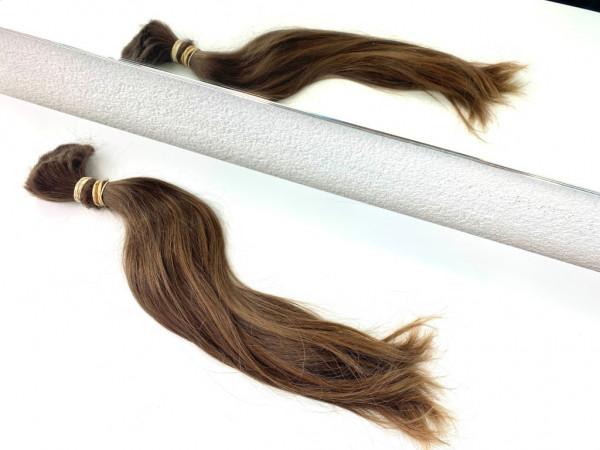 Europäisches Rohhaar - 48cm - glatt bis leicht gewellt - 147 Gramm