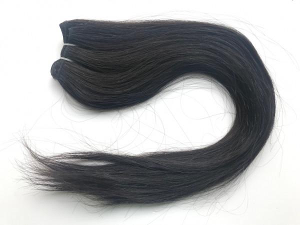 Asiatische Schnitthaar Tresse - glatte Struktur - Farbe 1b
