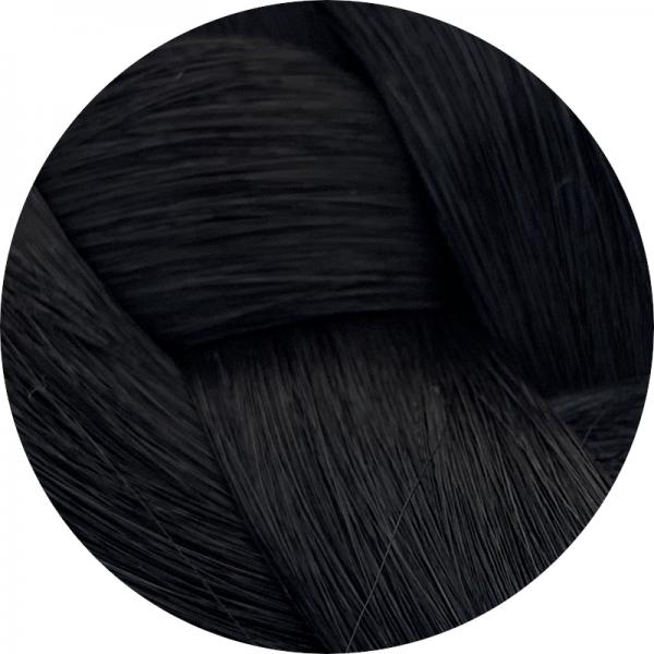 Asiatische Schnitthaar Tresse - glatte Struktur - 55cm - Farbe 1