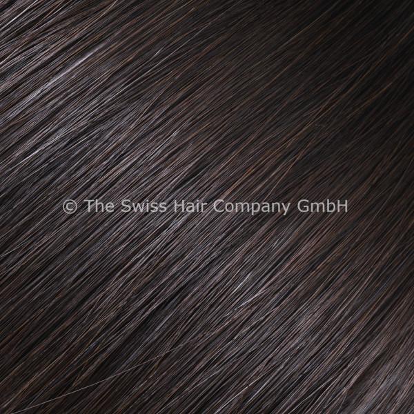 Asiatische Schnitthaar Extensions - glatte Struktur - 55/60cm - Farbe 1b