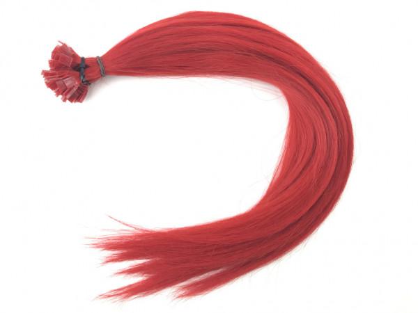 Sibirische Keratin Extensions - glatt - Rot