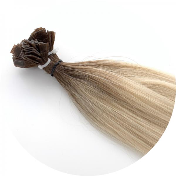 Asiatische Schnitthaar Extensions - glatte Struktur - 55/60cm - Farbe 4/1001 Dark Rooted
