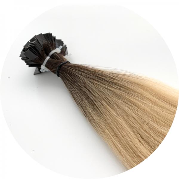 Asiatische Schnitthaar Extensions - glatte Struktur - 55/60cm - Farbe 2/18b Dark Rooted