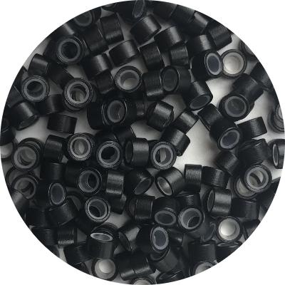 Microringe mit Silikon - schwarz