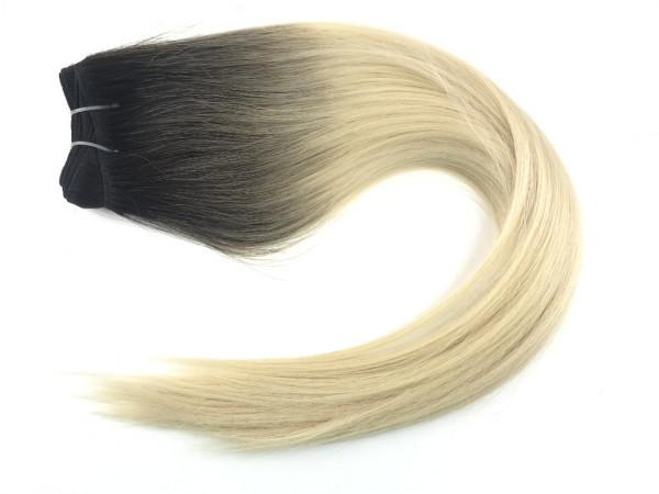 Asiatische Schnitthaar Tresse - glatte Struktur - Dark Roots 1/60