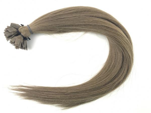 25 Sibirische Keratin Extensions - 50cm - glatt - Farbe 8 - dunkles Aschblond