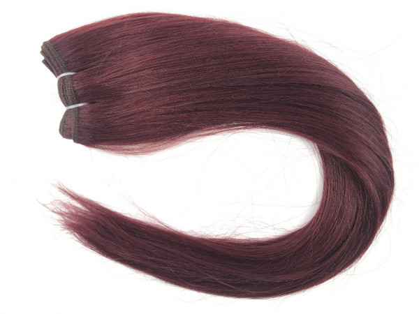 Asiatische Schnitthaar Tresse - glatte Struktur - Farbe 99j