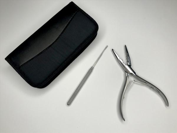 Set Zange / Nadel für Microring- und Keratinbondings
