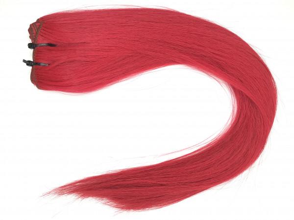 Asiatische Schnitthaar Tresse - glatte Struktur - knallliges Rot