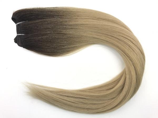 Asiatische Schnitthaar Tresse - glatte Struktur - Dark Roots 3b/18b